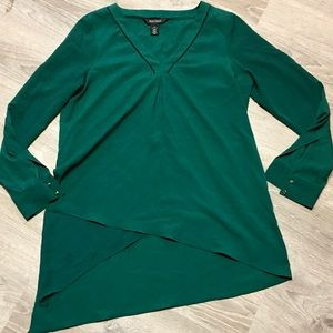 WHBM Green Layered Blouse Size 8